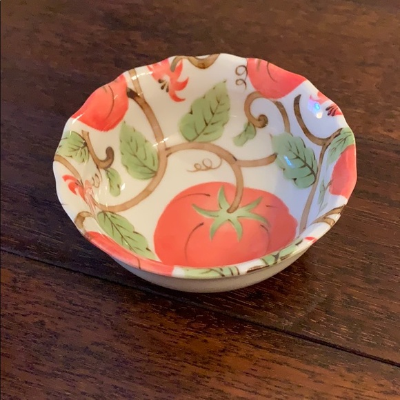 Other - Small porcelain bowl from Japan w/ tomato vine 🍅